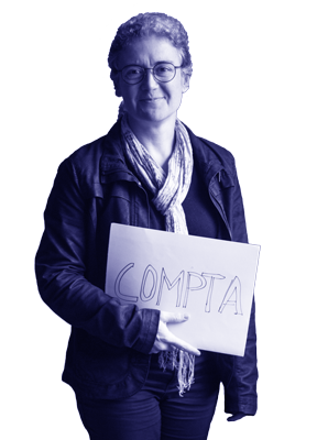 Sylvie comptable à La Ressourcerie CUlturelle